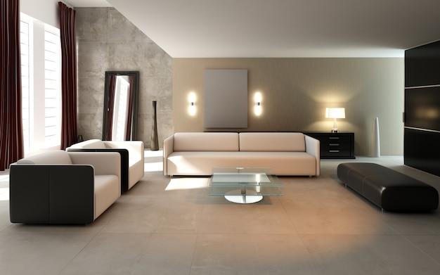 Intérieur de l'appartement moderne