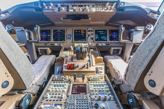 Intérieur de l'avion de passagers