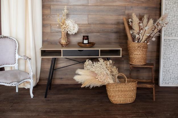 Intérieur de bureau à domicile de style scandinave espace de travail intérieur maison