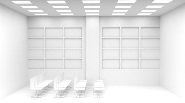 Intérieur de bureau. illustration 3d - illustration