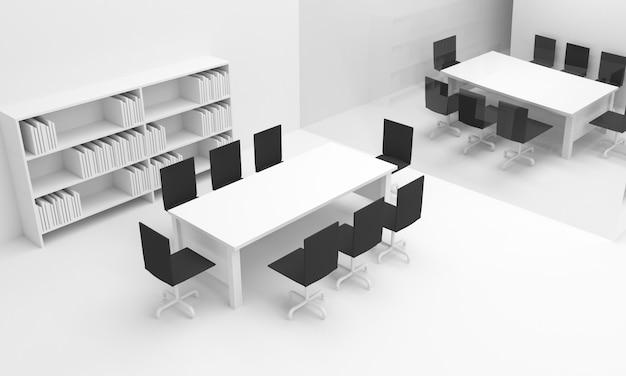 Intérieur de bureau. illustration 3d