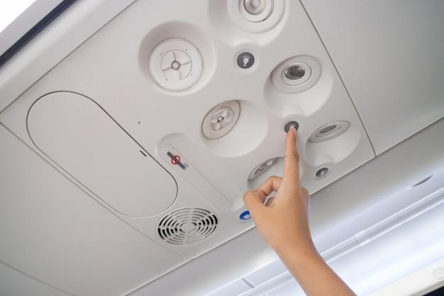 Intérieur de la cabine d'avion