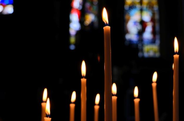 À l'intérieur d'une cathédrale de l'église catholique