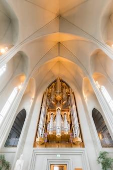 Intérieur de la cathédrale hallgrimskirkja