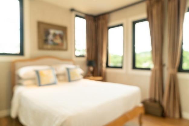 Intérieur de chambre à coucher flou abstrait