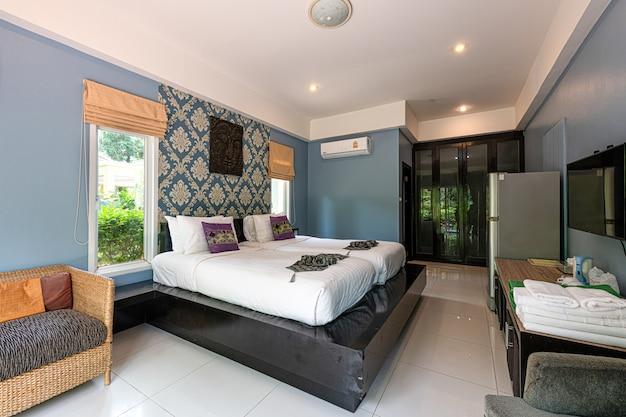 Intérieur d'une chambre dans un hôtel à phuket en thaïlande