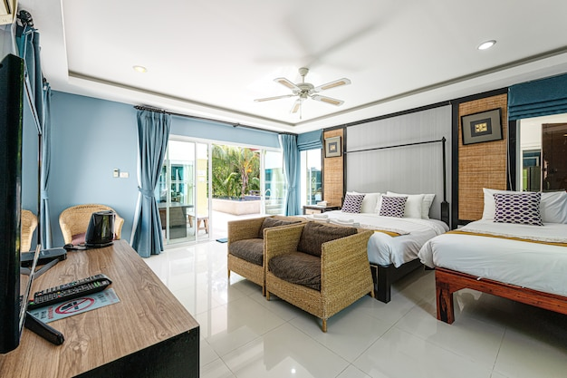 Intérieur d'une chambre dans un hôtel
