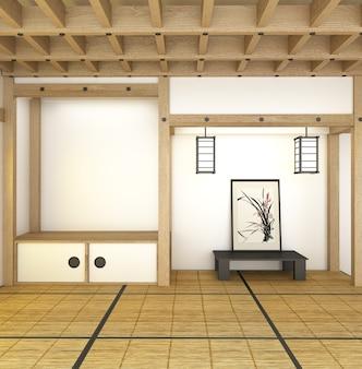Intérieur de la chambre du japon