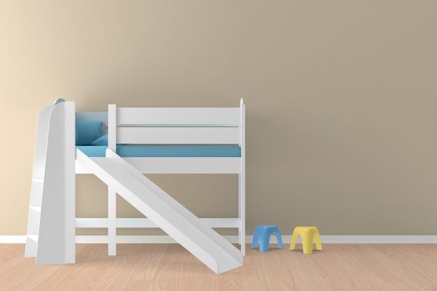 Intérieur de la chambre d'enfants, illustration 3d