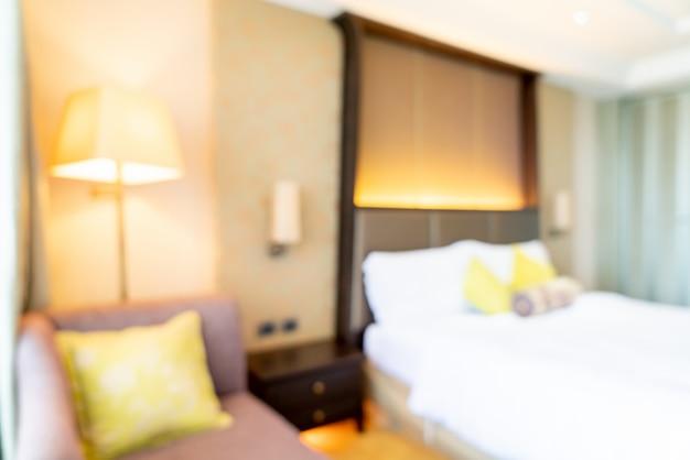 Intérieur de chambre d'hôtel flou abstrait