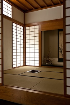 Intérieur d'une chambre japonaise. tous les détails sont originaux