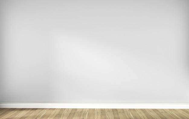 Intérieur de la chambre scandinave vide blanc avec plancher en bois. rendu 3d