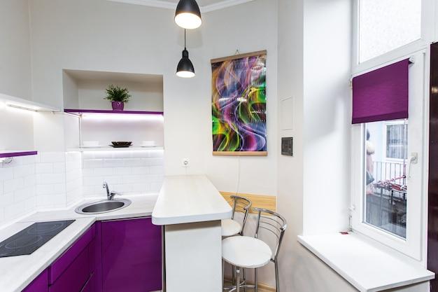 Intérieur d'une cuisine colorée