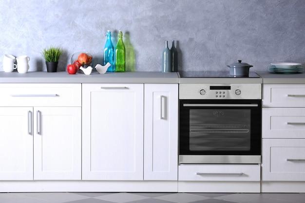Intérieur de cuisine moderne, gros plan
