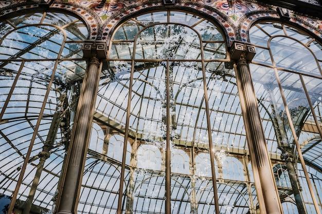 Intérieur du crystal palace à madrid