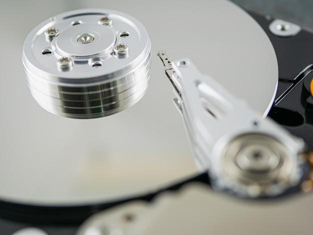 À l'intérieur du disque dur