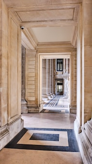 Intérieur du palais de justice de bruxelles en belgique