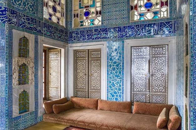 Intérieur du palais de topkapi à istanbul, turquie