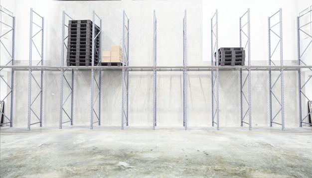 Intérieur d'un entrepôt vide dans l'industrie logistique