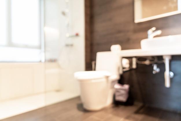 Intérieur flou abstrait de la salle de bain