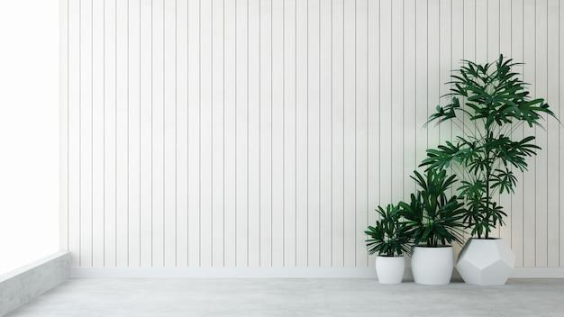 Intérieur loft d'espace vide mur décoratif mur de briques en copropriété - rendu 3d