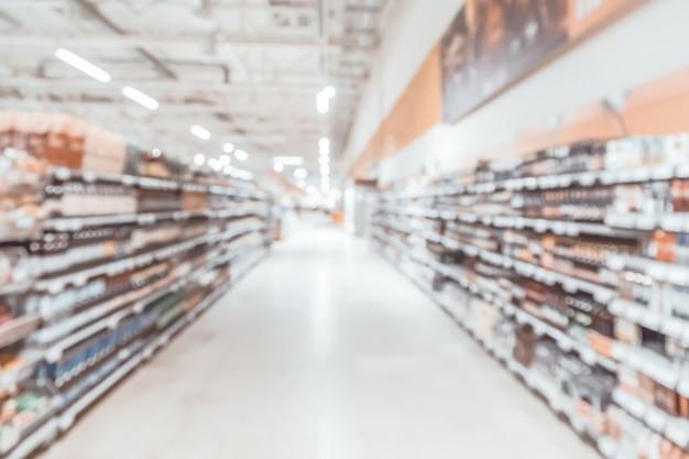 Intérieur de magasin de centre commercial flou abstrait