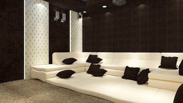 Intérieur de maison moderne de rendu 3d