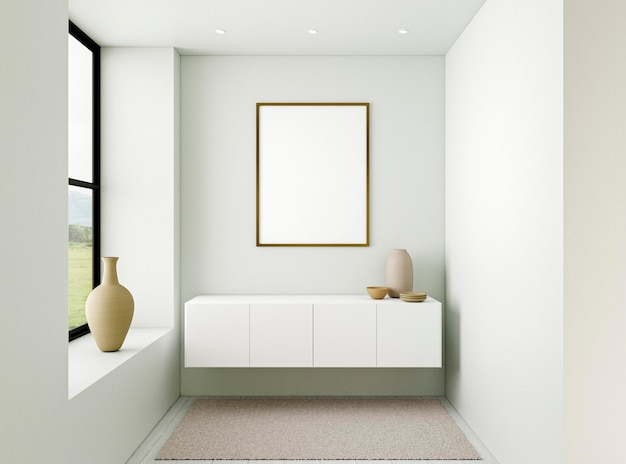 Intérieur minimaliste avec cadre élégant