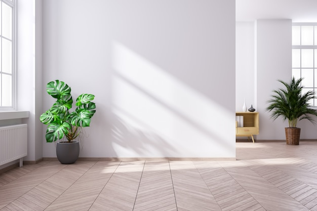 Intérieur minimaliste moderne du salon