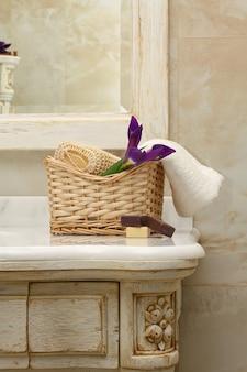 Intérieur et mobilier de salle de bain de luxe