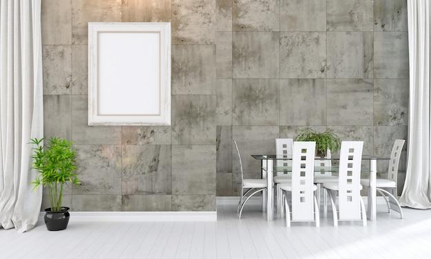 Intérieur moderne et lumineux avec cadre photo vide