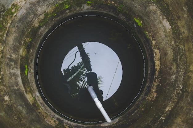À l'intérieur d'un puits