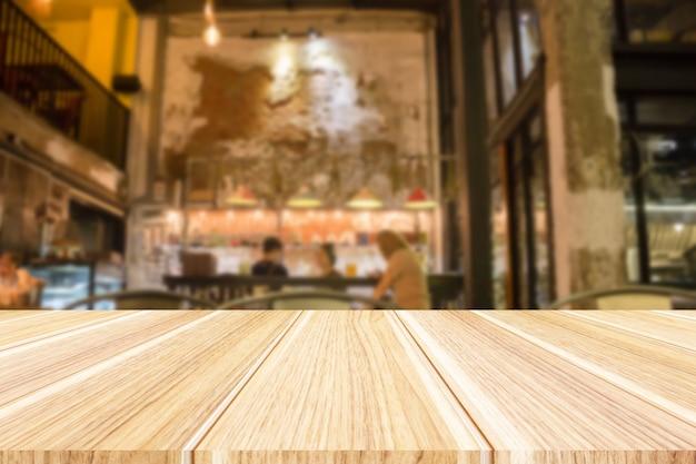 Intérieur de restaurant floue abstraite pour le fond