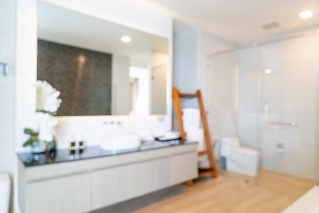 Intérieur de la salle de bain flou abstrait