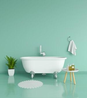 Intérieur de salle de bain vert