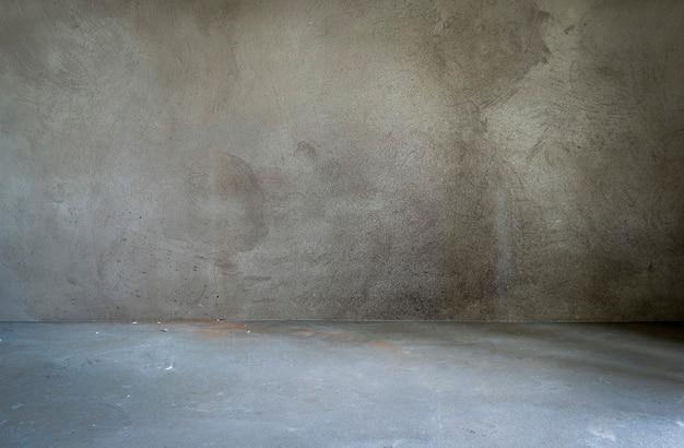 Intérieur de la salle grunge sans décoration dans des couleurs grises