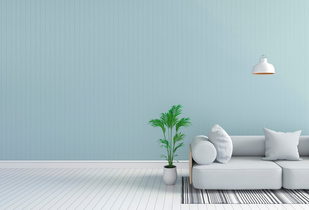 Intérieur de la salle de séjour dans un style moderne, rendu 3d