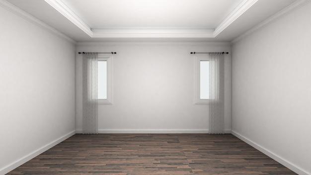 Intérieur de la salle vide de style classique. rendu 3d