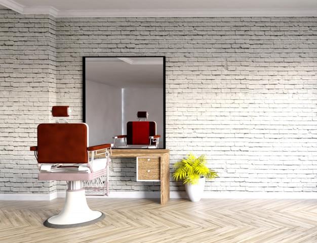 Intérieur de salon de coiffure