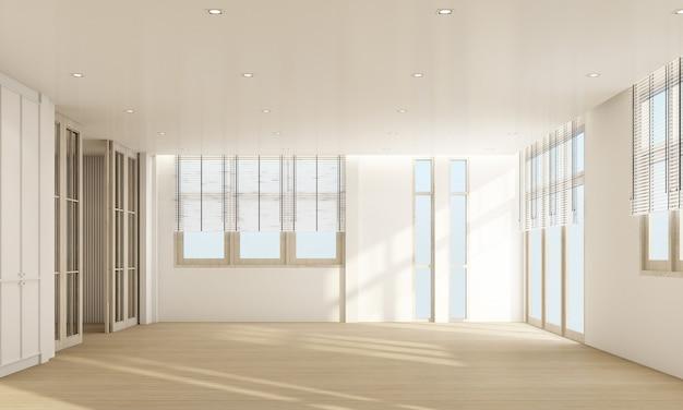 Intérieur de salon élégant avec parquet et rideau