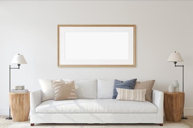 Intérieur de salon moderne dans un style côtier