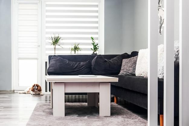 Intérieur d'un salon moderne à la maison