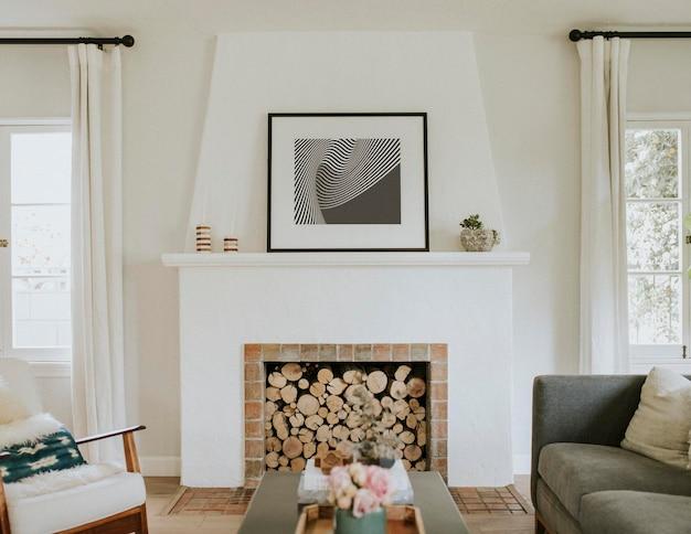 Intérieur de salon simple