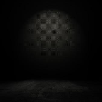Intérieur de style grunge avec la lumière de tache douce