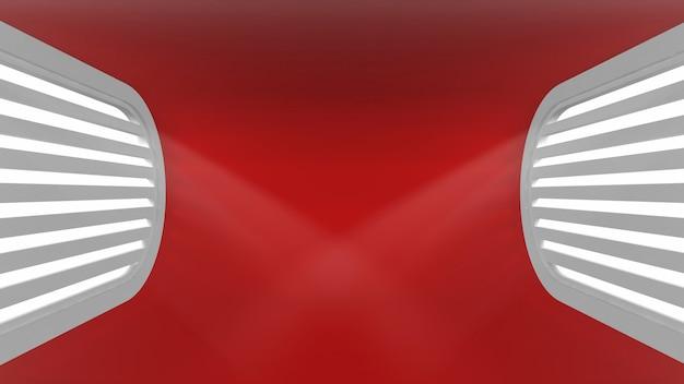 Intérieur vide conceptuel ultra moderne avec des rayons de lumière des fenêtres pour vos objets