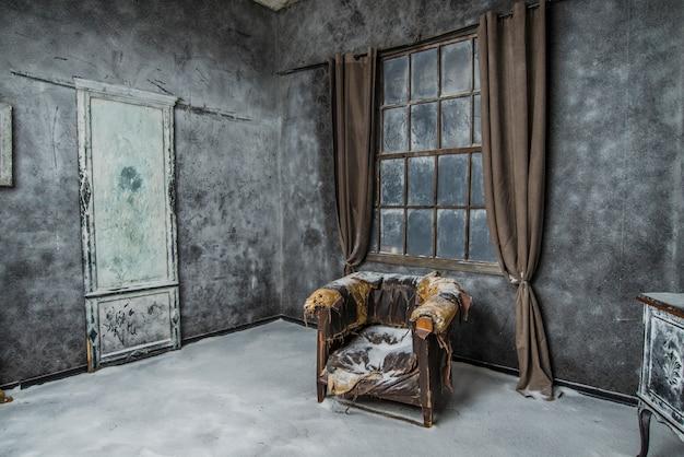 Intérieur vintage abandonné