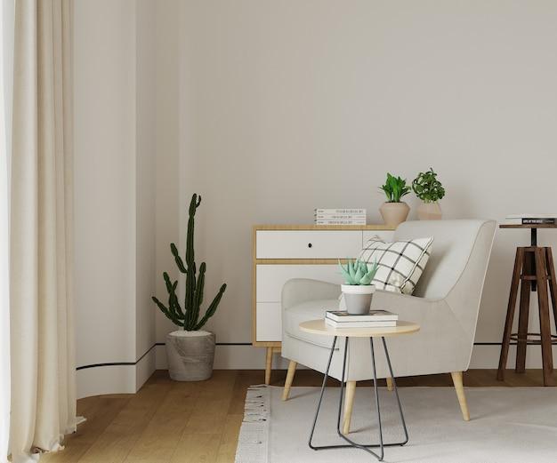 Intérieur vivant avec des meubles
