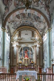 Intérieurs de l'église, sanctuaire d'atotonilco, san miguel de allende, guanajuato, mexique