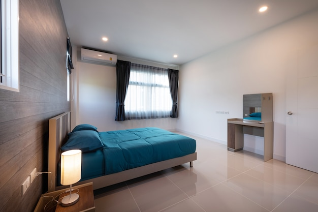 Interior design chambre moderne d'une nouvelle maison