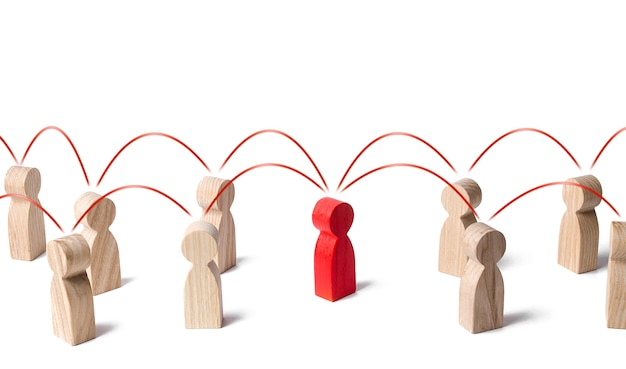 Intermédiaire de médiation entre les personnes.